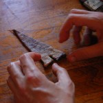 משולש חתוך לפני גלגול