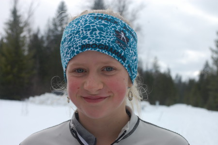 ילדה בת 12. הגובה העצום שלה לא עובר בתמונה, כמו גם החן הרב בו היא מחליקה.